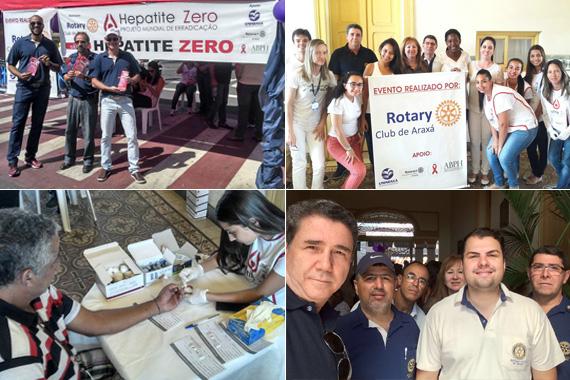 Rotary Club e Uniaraxá promovem ação contra a hepatite C