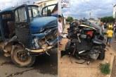 Caminhão desgovernado causa acidente no bairro Alvorada