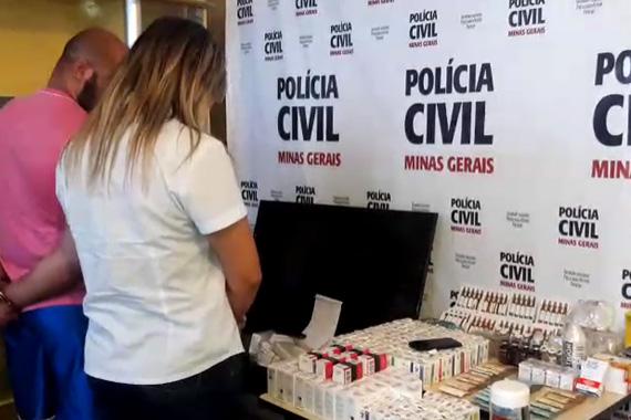 Casal é preso com R$ 11 mil em produtos anabolizantes no bairro Mangabeiras