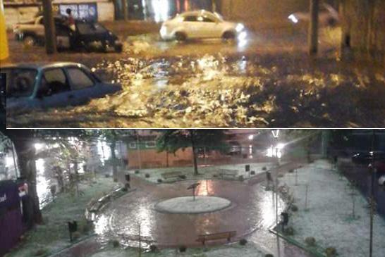 Temporal causa estragos na região central e bairros de Araxá