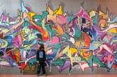 Intervenção artística nos muros do CSD – Grafite 800 anos