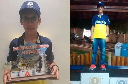 Vítor Amorim é 4º colocado no Mineiro Absoluto de Xadrez 2016