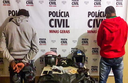 Polícia Civil prende suspeitos de assaltar postos de combustíveis em Araxá
