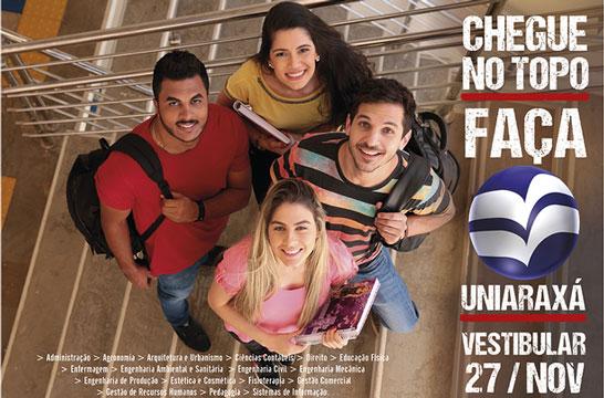 Vestibular 2017 Uniaraxá é no próximo domingo, dia 27