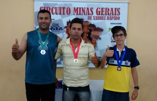 Araxá domina o pódio na 6ª Etapa do Circuito Minas Gerais de Xadrez Rápido