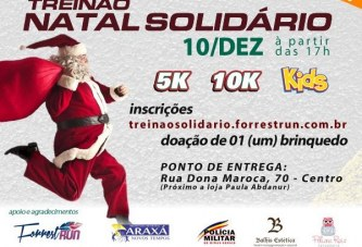 Grupo de corredores de Araxá faz Treinão Solidário para arrecadar brinquedos