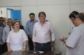 Prefeito Aracely concede entrevista coletiva sobre a reforma administrativa