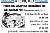 PROCON amplia horário de atendimento em Araxá