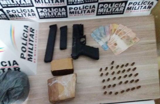 PM prende jovem com drogas e arma de fogo no São Geraldo