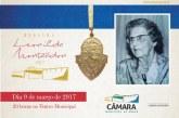 Câmara divulga as homenageadas com a Medalha Leonilda Montandon 2017