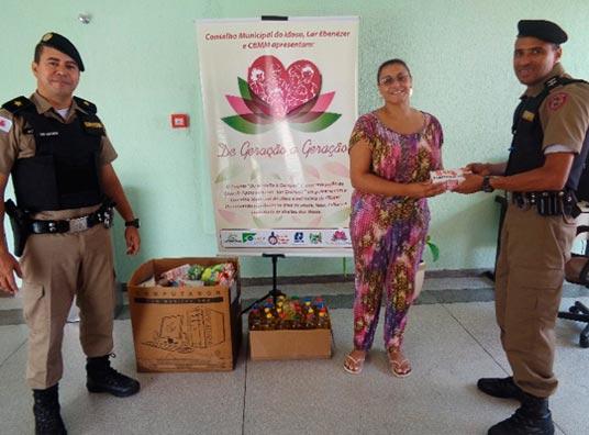 37º BPM realiza entrega de alimentos a entidades assistenciais em Araxá 3