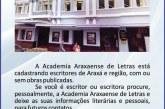 Academia Araxaense de Letras abre cadastro para escritores de Araxá e região