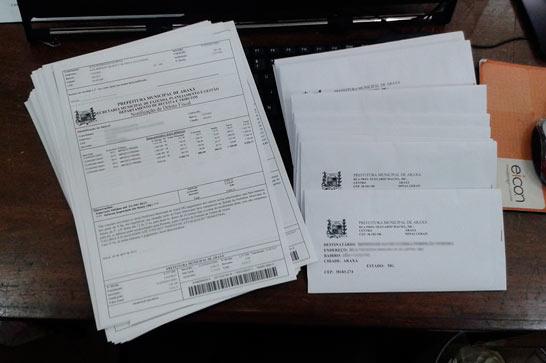 Contribuintes são notificados para negociar dívidas com município