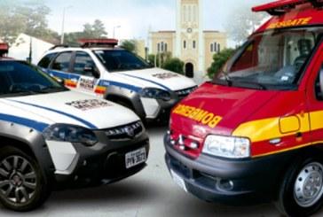 PM e Corpo de Bombeiros de Araxá recebem novas viaturas em solenidade na quinta