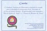Academia Araxaense de Letras convida para o seu aniversário de 52 anos
