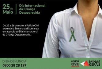 Polícia Civil promove a Semana da Esperança em atenção ao Dia Internacional da Criança Desaparecida