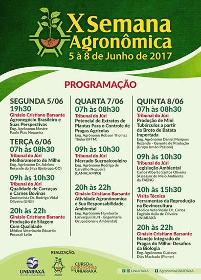 Uniaraxá promove Semana Agronômica 5