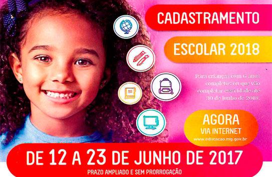 Escolas municipais e estaduais iniciam Cadastramento Escolar 2018