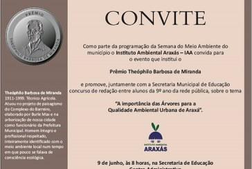 Convite: Prêmio Theóphilo Barbosa de Miranda
