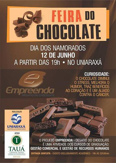 Convite: Feira do Chocolate no Uniraxá