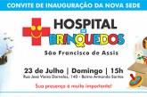 Convite: Inauguração da nova sede do Hospital dos Brinquedos