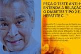 Campanha convoca população a fazer exames de hepatite C e diabetes