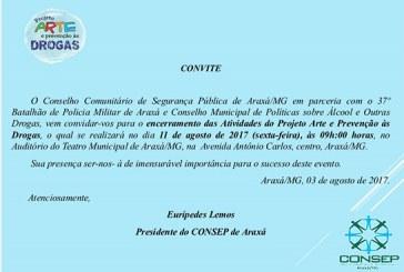 Convite: Projeto Arte e Prevenção às Drogas