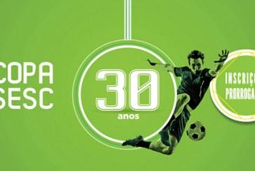 Inscrições prorrogadas para a Copa Sesc