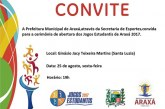 Convite: Abertura do Jogos Estudantis de Araxá