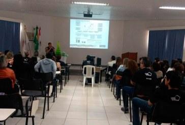 Comandante da 183 Cia/37ºBPM realiza palestra para funcionários de banco