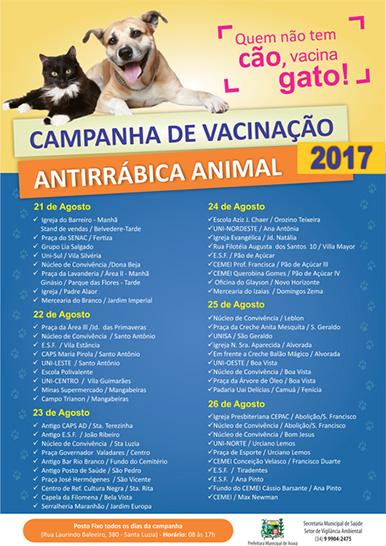 Prefeitura inicia vacinação antirrábica animal no perímetro urbano 3
