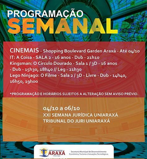 Confira a programação para o final de semana em Araxá 7