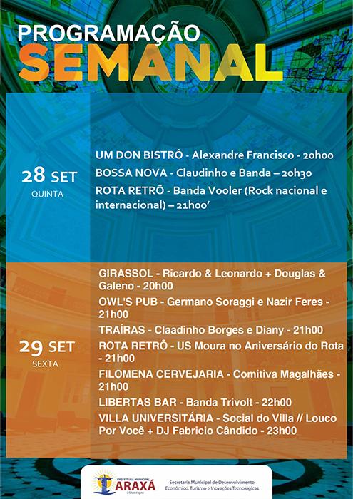 Confira a programação para o final de semana em Araxá 8