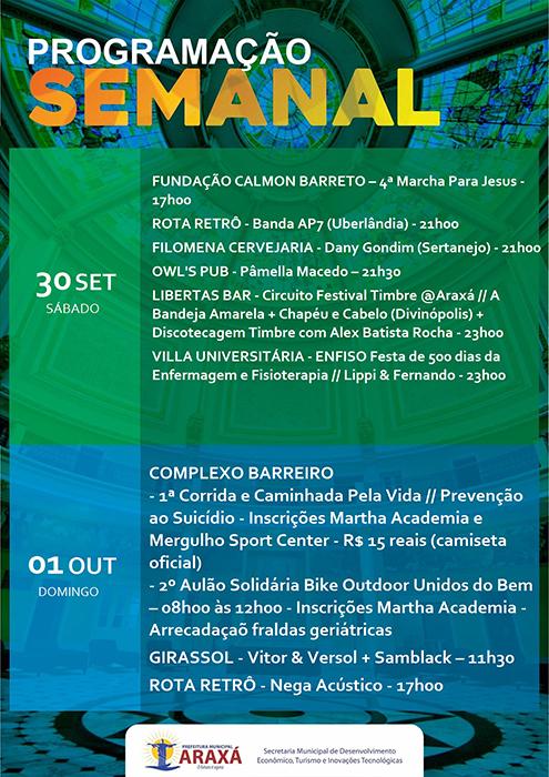 Confira a programação para o final de semana em Araxá 9