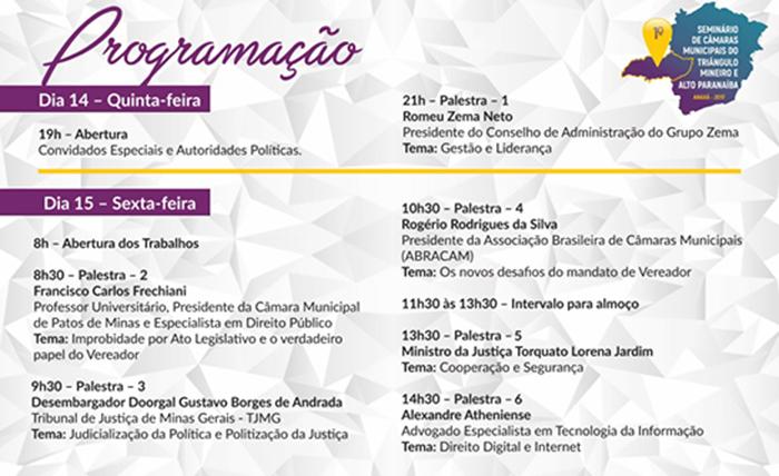 Convite: 1º Seminário de Câmaras Municipais do Triângulo Mineiro e Alto Paranaíba 3