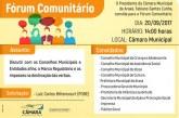 Convite: Fórum Comunitário na Câmara Municipal