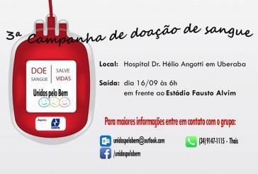 """3ª Campanha de Doação de Sangue """"Unidos Pelo Bem"""", participe!"""