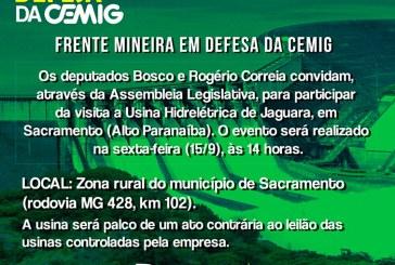 Deputado Bosco convida para ato em defesa das usinas da Cemig