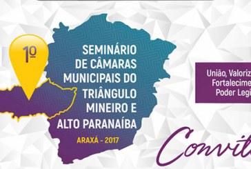 Convite: 1º Seminário de Câmaras Municipais do Triângulo Mineiro e Alto Paranaíba