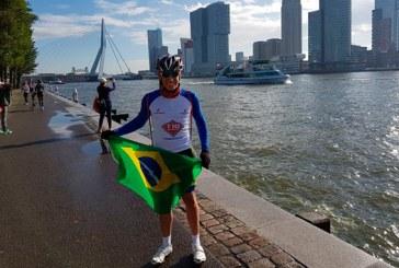 Jhonathan é o melhor brasileiro de sua categoria no World Triathlon na Holanda