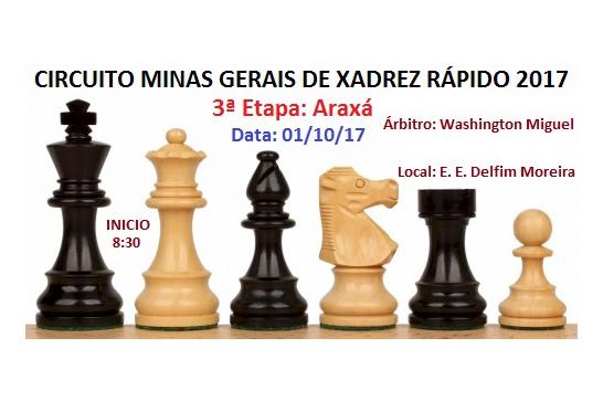 Convite: Etapa Araxá do Circuito Minas Gerais de Xadrez Rápido 2017