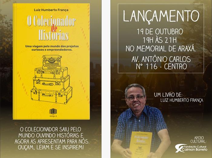 """Lançamento do livro """"O Colecionador de Histórias"""" 3"""