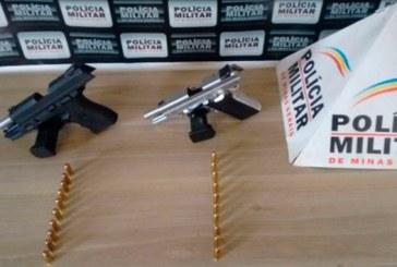 PM prende autores por porte ilegal de armas de fogo no Centro