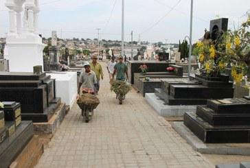 Cemitérios passam por limpeza geral para o Dia de Finados