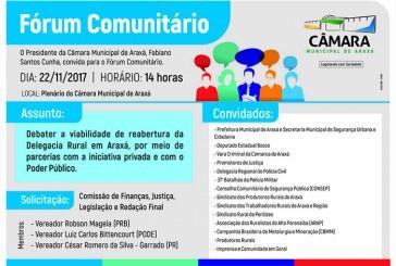 Convite: Fórum Comunitário na Câmara Municial