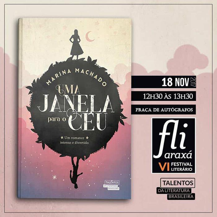 Marina Machado participa do Fliaraxá neste final de semana 3