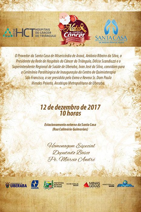 Convite: Inauguração do Centro de Quimioterapia São Francisco