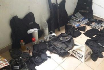 PM apreende armas e munições usadas na explosão da agência de Tapira