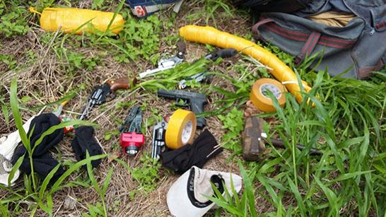 Polícia Militar prende seis autores e impede a explosão de caixa eletrônico em Santa Juliana