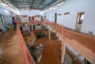 Andamento das obras da Escola Municipal Alice Moura